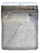 Street Under The Bridge Duvet Cover