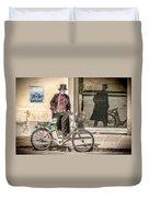 Street Vendor Duvet Cover