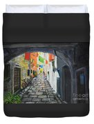 Street View 2 From Pula Duvet Cover