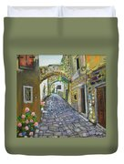 Street View In Pula Duvet Cover