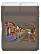 Street With Arches And Columns Duvet Cover