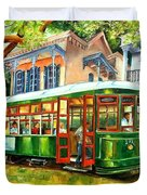 Streetcar On St.charles Avenue Duvet Cover
