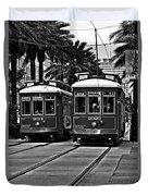 Streetcars New Orleans Duvet Cover