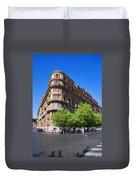 Streetcorner In Rome Duvet Cover