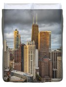 Streeterville From Above Duvet Cover