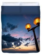 Streetlamp And Cloudy Nightsky Duvet Cover