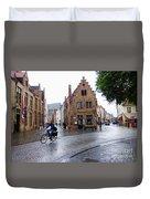 Streets Of Brugges 3 Duvet Cover