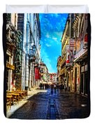 Streets Of Lisbon 1 Duvet Cover