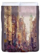 Streets Of New York Duvet Cover