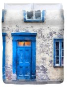Streets Of Old Quebec 2 Duvet Cover