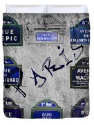 Streets Of Paris Duvet Cover
