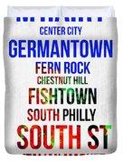 Streets Of Philadelphia 1 Duvet Cover
