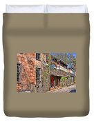 Streets Of St Augustine Florida Duvet Cover