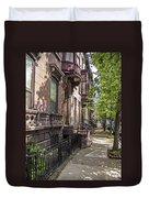 Streets Of Troy New York Duvet Cover