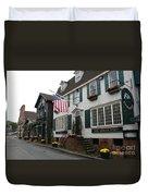 Streetscene Newport  -  Rhode Island Duvet Cover