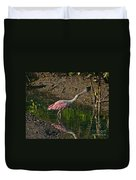 Stretched Out Pink Spoonbill Duvet Cover