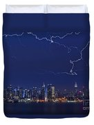 Strikes And Bolts In Nyc Duvet Cover