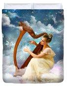 Strings Of My Heart Duvet Cover