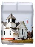 Stringtown Community Church Duvet Cover