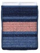 Striped Crochet Cloth Duvet Cover