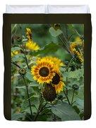 Striped Sunflower Duvet Cover