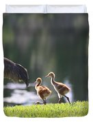 Stroll By The Pond Duvet Cover