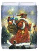 Strolling Santa II Duvet Cover