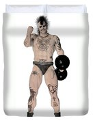 Strongest Man Fighter  Duvet Cover