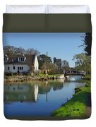 Stroudwater Canal Stonehouse Duvet Cover