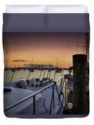 Stuart Marina At Sunset Duvet Cover