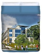 Students On Campus Duvet Cover