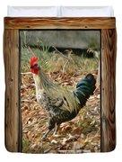 Studio Window Rooster Duvet Cover