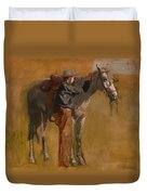 Study For Cowboys In The Badlands Duvet Cover