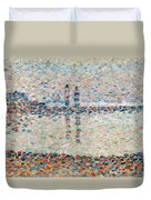 Study For The Channel At Gravelines Evening Duvet Cover