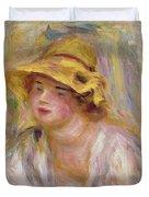 Study Of A Girl, C.1918-19 Duvet Cover