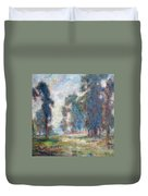 Study Of An Impressionist Master Duvet Cover by Quin Sweetman