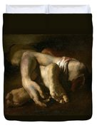 Study Of Feet And Hands, C.1818-19 Oil On Canvas Duvet Cover