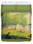 Study On La Grande Jatte Duvet Cover