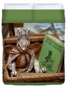 Stuffed Rabbit And Uncle Wiggly Book Duvet Cover