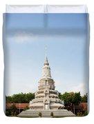 Stupa At The Silver Pagoda, Cambodia Duvet Cover
