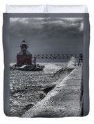 Sturgeon Bay After The Storm Duvet Cover by Joan Carroll