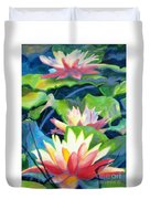 Styalized Lily Pads 3 Duvet Cover