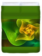 Stylized Philodendron Duvet Cover
