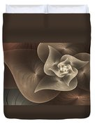 Stylized Philodendron Sepia Duvet Cover