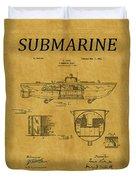 Submarine Patent 5 Duvet Cover