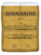 Submarine Patent 7 Duvet Cover