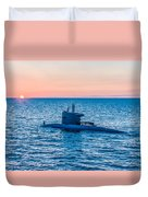 Submarine Sunset Duvet Cover