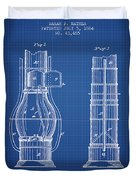 Submarine Telescope Patent From 1864 - Blueprint Duvet Cover