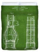 Submarine Telescope Patent From 1864 - Green Duvet Cover