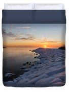 Subtle Pinks And Golds And Violets In A Bright Sunrise Duvet Cover